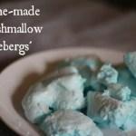 Home-made Marshmallow Icebergs