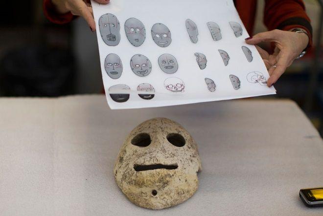 mascaras piedra neolitico israel
