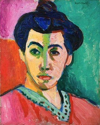 La raya verde, Henri Matisse, 1905, óleo y témpera sobre lienzo.