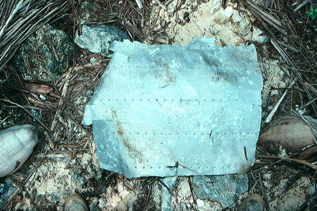 Esta placa de metal perteneció al avión de Amelia Earhart