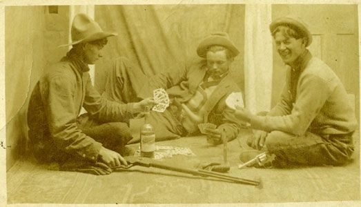Una de las primeras fotos realizadas a jugadores de Póker