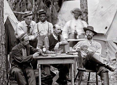 Partida de póker durante la Guerra Civil de Estados Unidos.