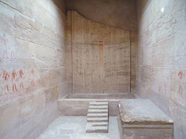 'Puerta falsa' en una tumba egipcia