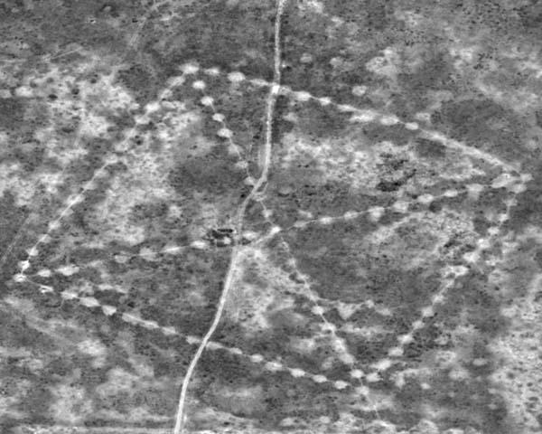 La NASA confirma la existencia de geoglifos en Kazajistán. Crédito: NASA.