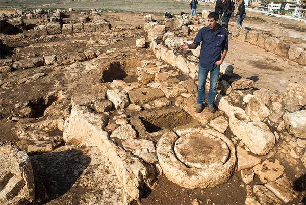Granja antigua hallada en Israel. Crédito: Ministerio de Antigüedades.