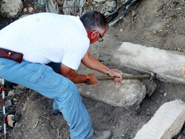 Inscripciones funerarias de 1.700 años  halladas en Israel.