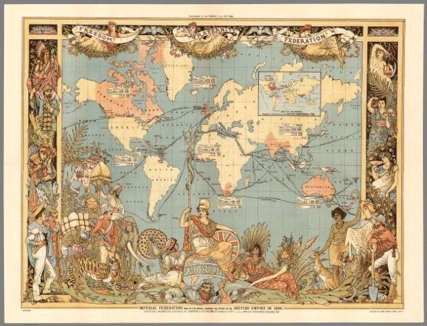 Mapa histórico de John Colomb-Walter Crane, 1886