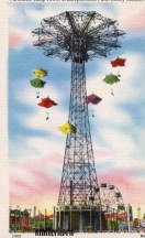 Vintage Postcard of the Parachute Jump at Coney Island, Brooklyn, New York (source: http://bit.ly/1dR7l9K)
