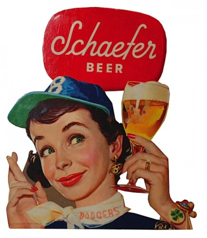 Advertising for Schaefer Beer and the Dodgers (source: http://bit.ly/1dR3vxl)