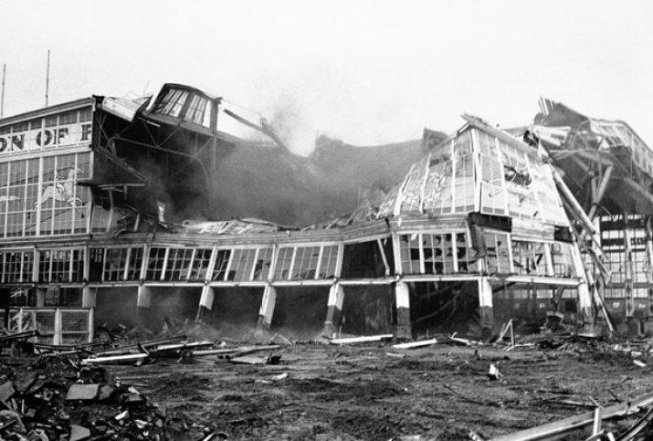 November 12, 1966 - Last remaining building at Steeplechase Amusement Park is demolished (source: http://bit.ly/1dR79r3)