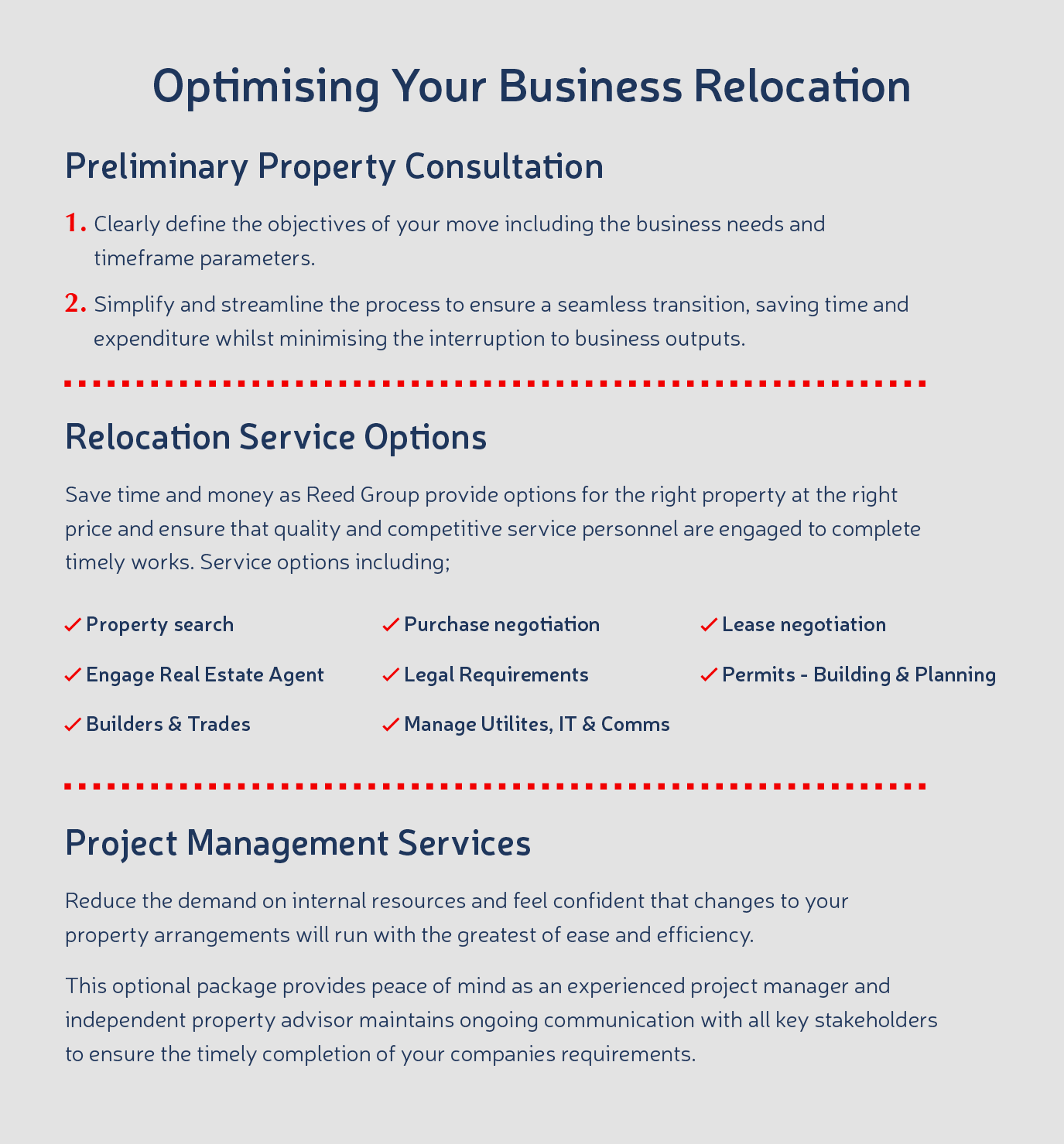 Optimising Your Business Relocation - Reed Group Property