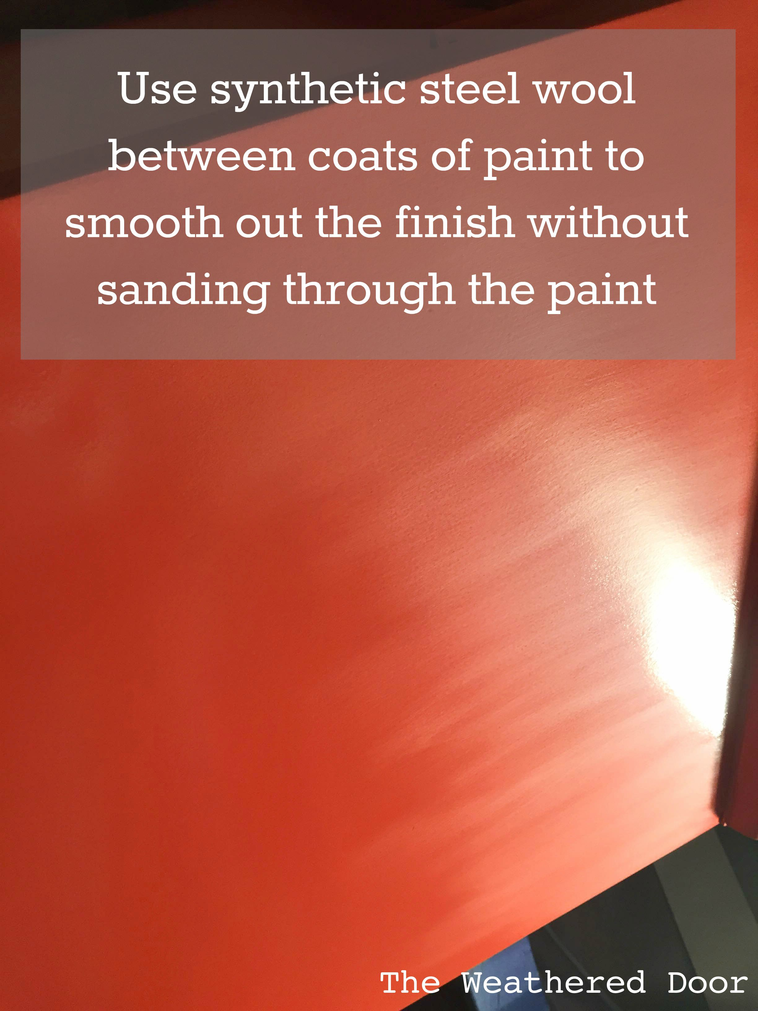 ... Benjamin Moore Advance Waterborne Alkyd Paint Review Use Synthetic  Steel Wool Between Coats To Smooth Out ...