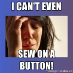 Q&A Monday:  You CAN Sew on a Button!