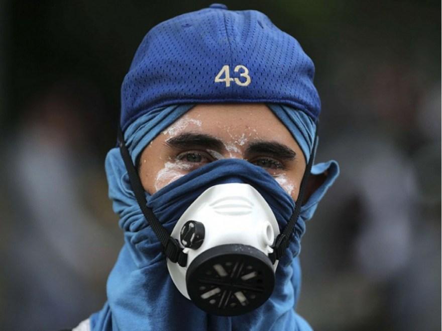 Portrait d'un manifestant, le 19 avril.