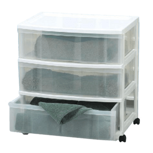 Gracious Living 3-Drawer Wide Tower | Canadian Tire
