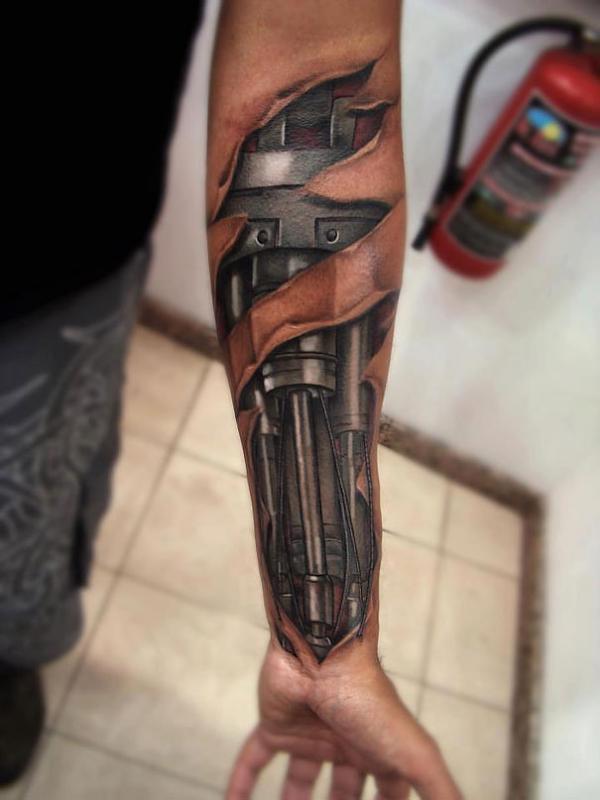 3D-Tattoo-brazo-robot