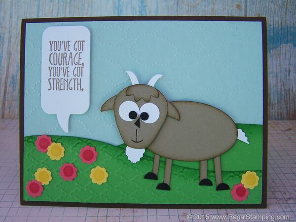 You've Got Meeeh! Goat Punch Art with Stampin' Up! Punches by Krista Thomas