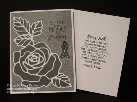 Brain Cancer Awareness, Rose Garden Thinlit, by Krista Thomas, www.regalstamping.com, copyright Stampin' Up!