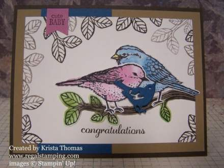 Stampin' Up! Best Birds Bundle by Krista Thomas, www.regalstamping.com