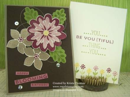 """Flower Patch, """"Happy Blooming Birthday"""" by Krista Thomas, www.regalstamping.com All products by Stampin' Up!"""