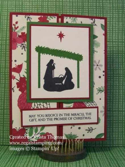 Joyful Nativity Gate Fold Technique by Krista Thomas, www.regalstamping.com all products copyright Stampin' Up!