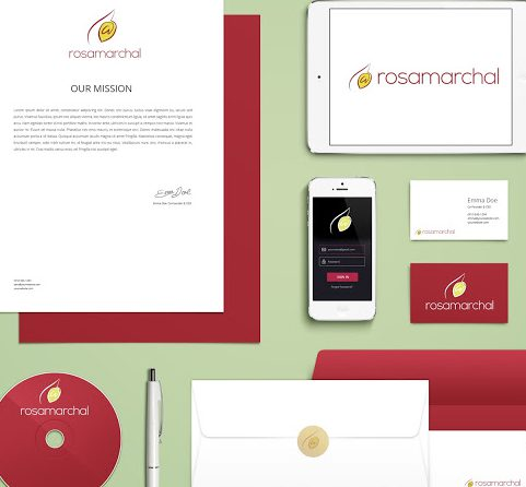 Identidad corporativa para Rosa Marchal