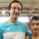 Foto: Guillermo Avío junto a Santiago Mayol.