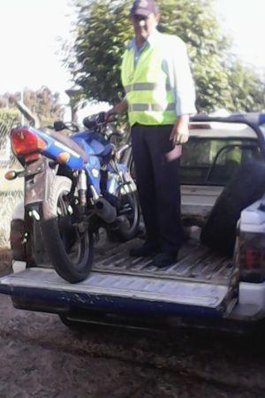 secuestro de una moto