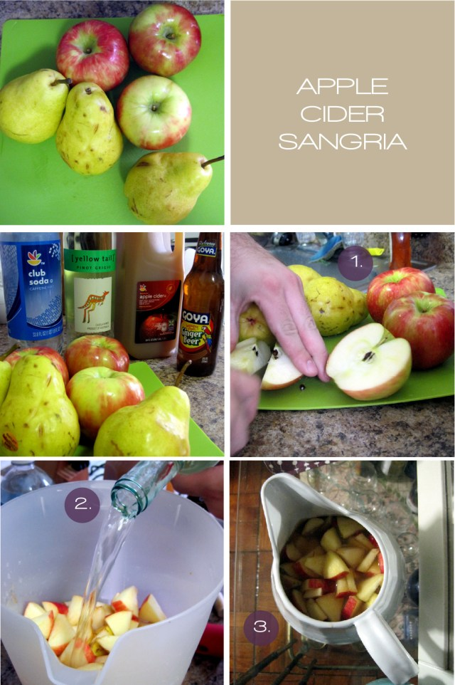 apple cider sangria, sangria, apple, recipe, wine, drink, party, thanksgiving, food, vino