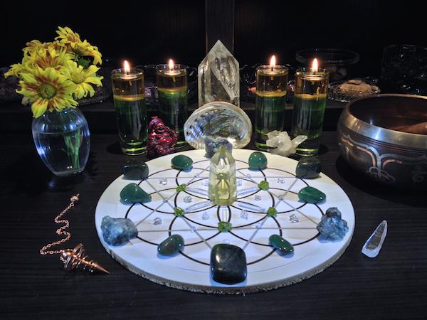 abundance and prosperity crystal gemstone grid
