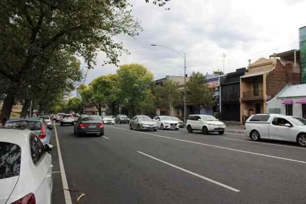 Straße in Australien Melbourne