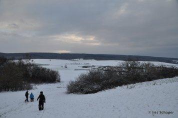 Solling drei Männer im Schnee
