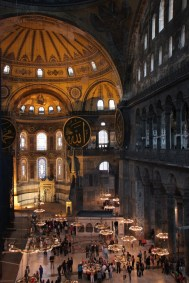 Inne i Hagia Sophia i Istanbul, Tyrkia