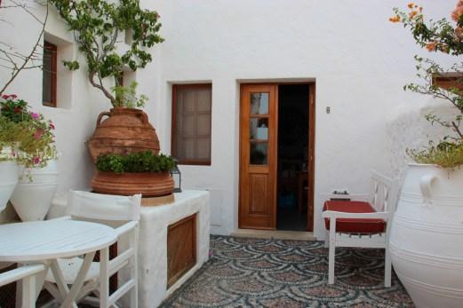 Utenfor rommet på Melenos-Lindos Hotel, Lindos, Rhodos