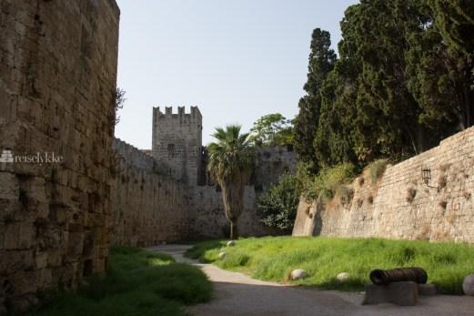 Muren, Rhodos gamleby