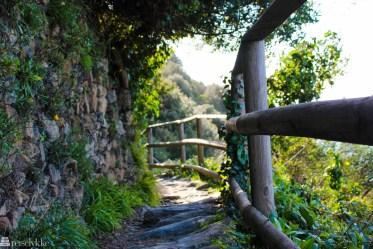 Sti mellom Monterosso og Vernazza