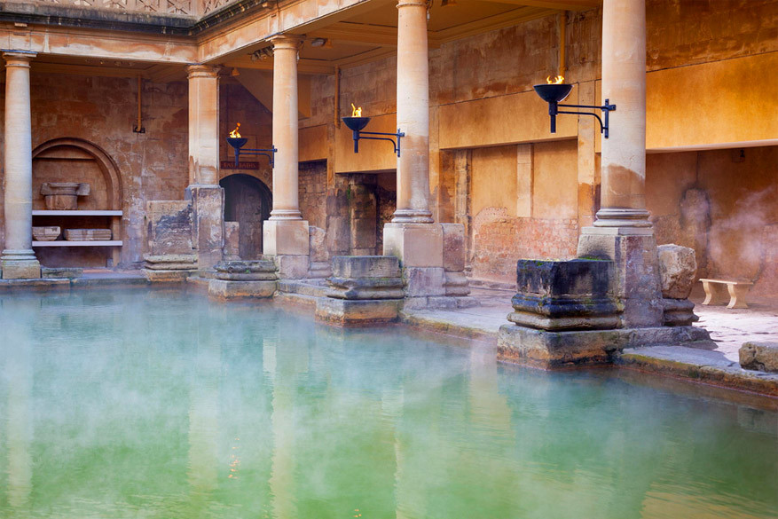 Bath: de Romeinse Baden. © Anthony Brown
