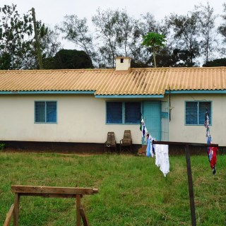 One of the staff houses at the Kwale District Hospital which was painted instead  of removing the asbestos roofing. Photo :Hiram Mwalaa