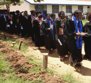Graduands at Kitui Early Childhood Education Centre. Kitui County has 13 private early childhood education training centres that are catering for hundreds of students who are keen on pursuing a career in teaching. [Photo: Courtesy]
