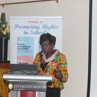 Janet Ouko fighting for better eduation system. Photo Courtesy
