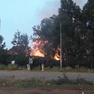 Langata High School on fire
