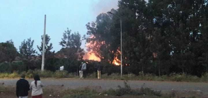 Langata High School on fire