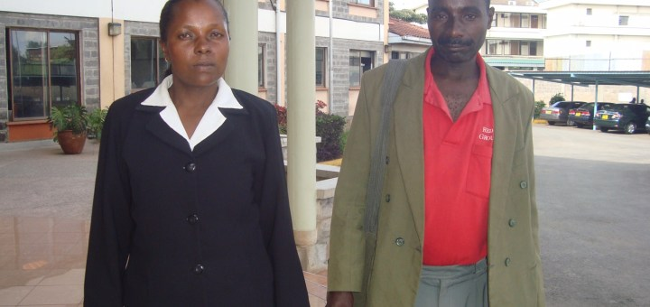 Mary Kiende, former inmate at Meru Women prison with her husband James Mwende.Picture:Henry Owino