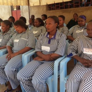 Female inmates during a recent event at one of the female prisons in Kenya.Picture:Waikwa Maina