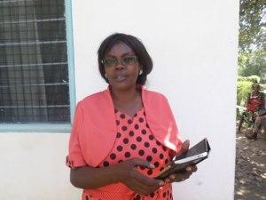 Nyabende Support Programme's Chairperson Caroline Wambui Omanga, during the interview. Photo Odhiambo Orlale