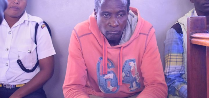 Thomas Musabire 45 years-year-old Boda Boda rider/ night guard in a Nakuru court where he is facing charges of drugging and molesting twenty-two boys and eight girls in his house and later threatening them not to disclose the ordeal to anyone.Photos by Ben Ali