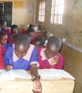 Class eight girls at Elangata Enterit Boarding Primary School where the number of female pupils is on a steady rise. Photo Joyce Chimbi