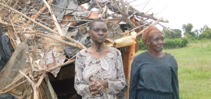 Mary Auma Odima ,57-year-old  widow and her daughter at their home in Siaya. Picture: Omondi Gwengi