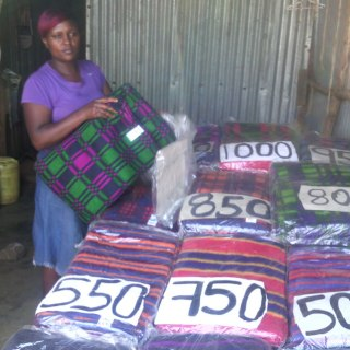 Ruth Njeri, a business women in Kawangware , Nairobi who is negatively affected by the prolonged political heat in Kenya.Picture:Veronica Kaveza