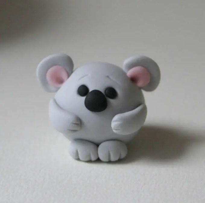 kerajinan clay tikus menggemaskan